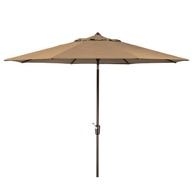 Member's Mark 10' Beige Market Umbrella with Premium Sunbrella Fabric