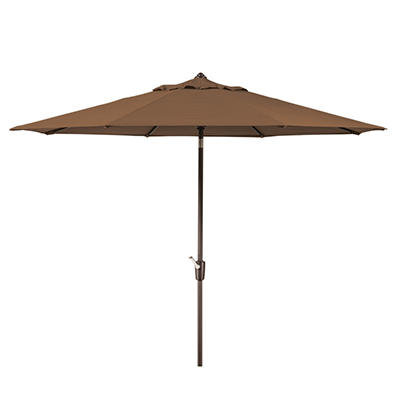 Member's Mark 10' Brown Market Umbrella with Premium Sunbrella Fabric