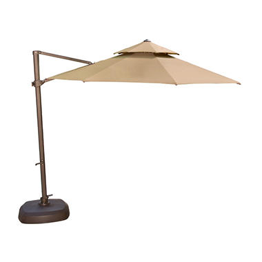 11' Beige Cantilever Umbrella