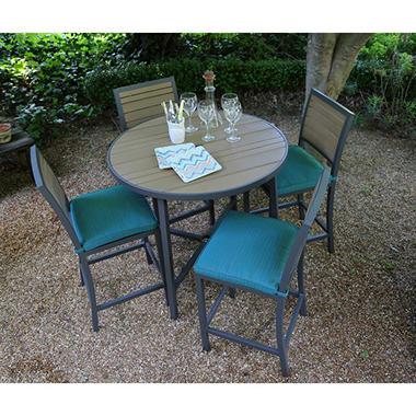 Woodbridge 5 Piece High Dining Set With Premium Sunbrella Fabrics Sam 39