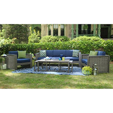 Midtown 6 pc Deep Seating Set with Premium Sunbrella® Fabric