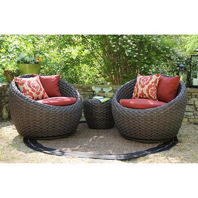 Corona 3 pc. Deep Seating Set with Premium Sunbrella® Fabric, Original Price $899.00