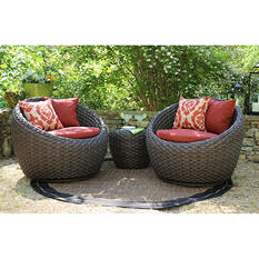 Corona 3 pc. Deep Seating Set with Premium Sunbrella® Fabric