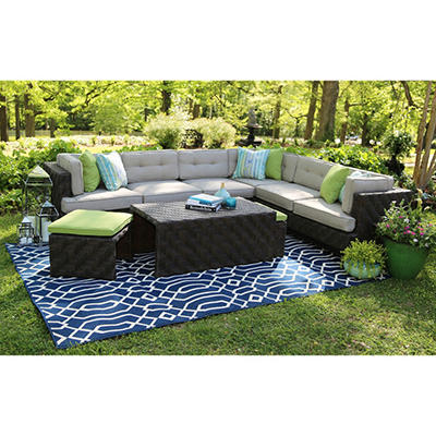 Canyon Sectional with Premium Sunbrella® Fabric, Original Price $1999.00