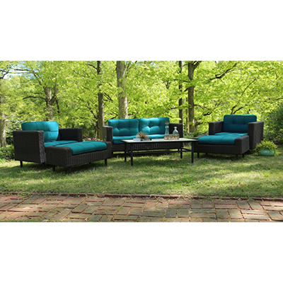 Wright 6-Piece Deep Seating with Premium Sunbrella® Fabrics