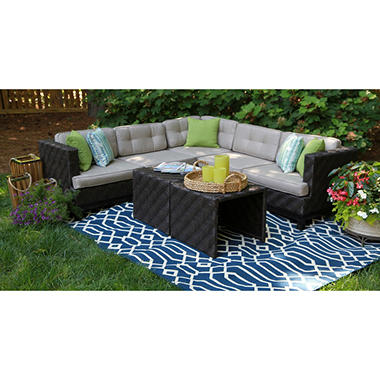 Canyon Outdoor Sectional with Premium Sunbrella Fabric