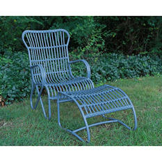 2 Piece Palmetto Chair - Blue