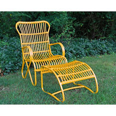 2 Piece Palmetto Chair - Yellow