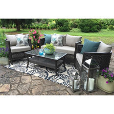 Carlsbad 4 piece Seating with Premium Sunbrella Fabric