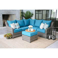 Cedar Grove 6-Piece Sectional with Sunbrella Fabric and Multiple Fabric Options