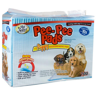 "Pet Select Pee-Pee Training Pads, 22"" x 23"" - 100 ct."
