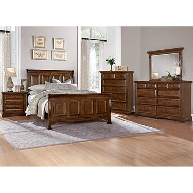 Manchester bedroom furniture set with sleigh bed sam 39 s club for Bedroom furniture in manchester