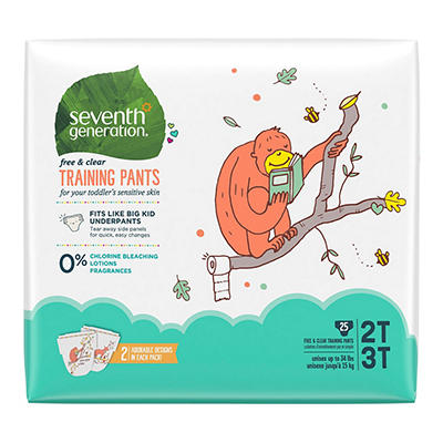 Seventh Generation Free & Clear Training Pants (Choose Your Size)