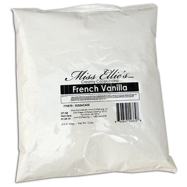 Miss Ellie's Gourmet Cappuccino, French Vanilla (2 lb. bag, 6 ct.)