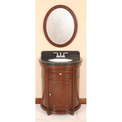 Vanity Mirror With Lights Sam S Club : Half Moon Vanity w/ Backsplash and Mirror - 28