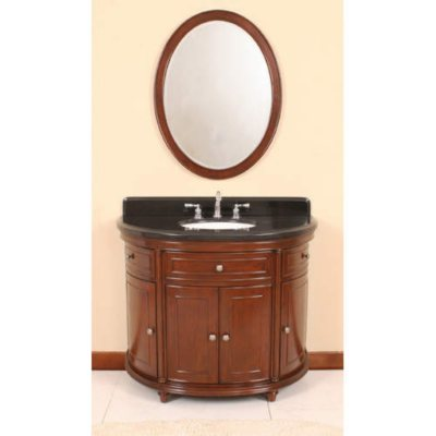 Vanity Mirror With Lights Sam S Club : Half Moon Vanity w/ Backsplash and Mirror - 42