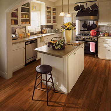 Traditional Living� Premium Laminate Flooring - Russett Oak; 8MM + 2MM Underlayment Thick - 1PK