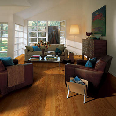 Traditional Living� Premium Laminate Flooring - Crimson Oak; 8MM + 2MM Underlayment Thick - 1PK