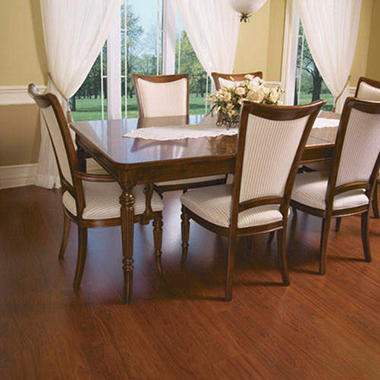 Traditional Living� Premium Laminate Flooring - Red Mahogany; 8MM + 2MM Underlayment Thick - 1PK