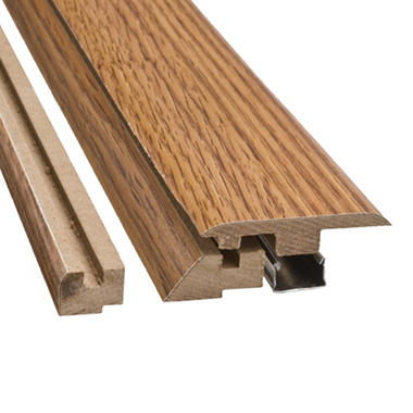 "SimpleSolutions™ Four-in-One Molding - Golden Amber Oak - 39.375""L"