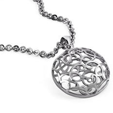 Cuzan Medallion Pendant with Handmade Mackech Chain in Sterling Silver