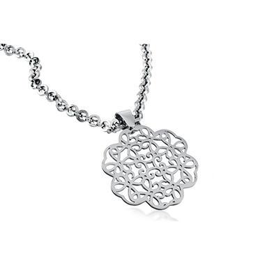 925 Sterling Silver Cuzan Flower Pendant