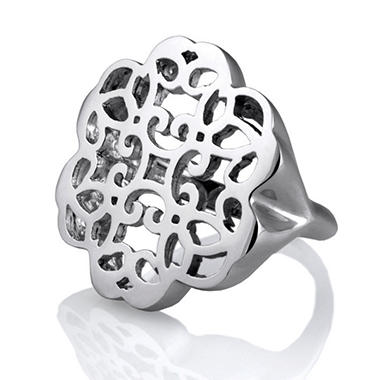 925 Sterling Silver Cuzan Flower Ring