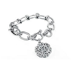 925 Sterling Silver Cuzan Flower Bracelet with Charms