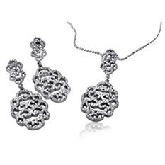 925 Sterling Silver Cuzan Long Earrings