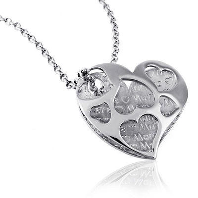 925 Sterling Silver Cuzan Mom Heart Pendant