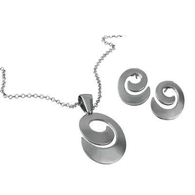 MCK By Mackech Snail Pendant and Earring Set in Sterling Silver