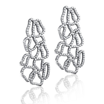 Cuzan By Mackech Drop Earrings in Sterling Silver