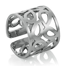 Mackech Geometric Ring in Sterling Silver