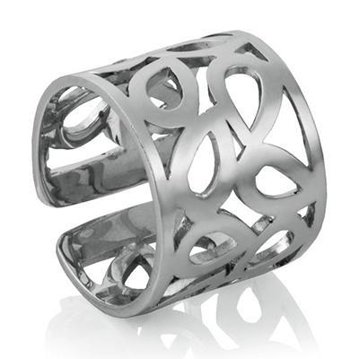Mackech Geometric Ring in Sterling Silver
