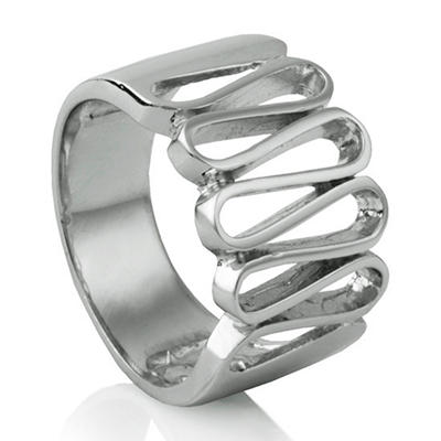 MCK By Mackech Geometric Ring in Sterling Silver