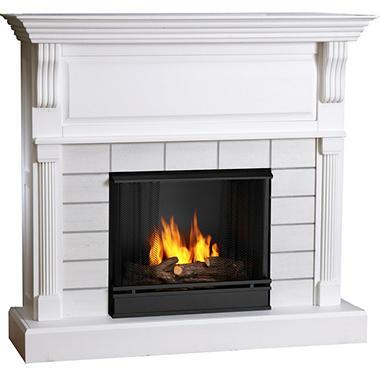 faux brick fireplace white sam s club