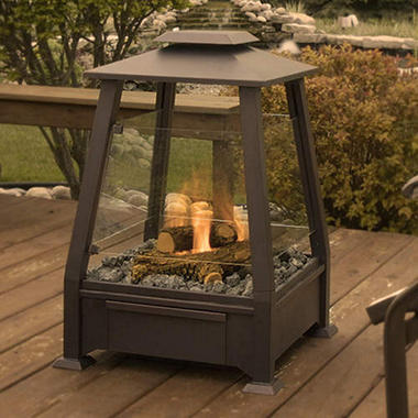 Sierra Outdoor Fireplace - Copper