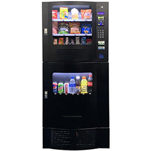 Seaga Compact Combination Vending Machine with Credit Card Reader (Black)