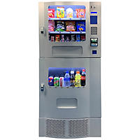 Seaga Compact Combination Vending Machine  (Silver)