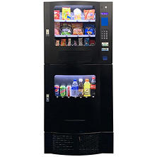 Compact Combination Vending Machine - Black