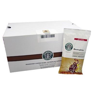 Starbucks Coffee, Sumatra, Portion Packs (2.5 oz., 18 ct.)