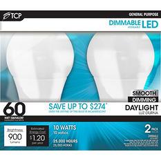 TCP LED 10-Watt Daylight General Use Light Bulbs (2 pk)