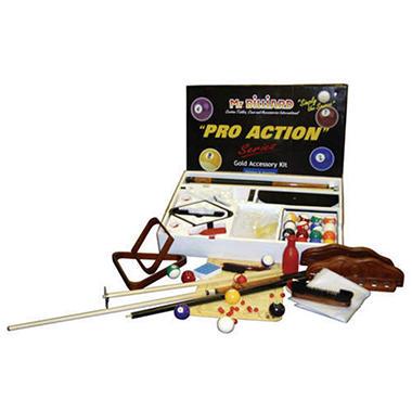 Billiard Accessory Package - Gold Kit