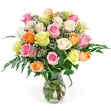 Rose Bouquet - Mixed Pastel - 2 Dozen