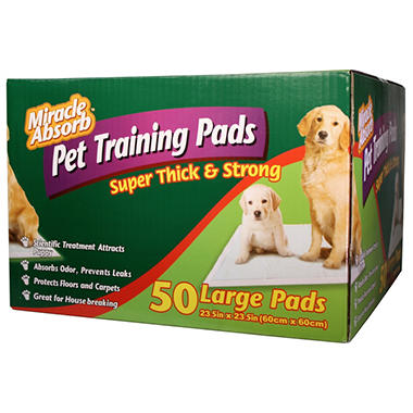 "Miracle Absorb - Pet Training Pads - 23.5"" x 23.5"" - 50 ct."