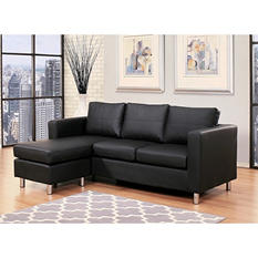 Atkins Leather Sectional and Ottoman