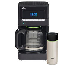 Braun Brewsense 12-Cup Coffee Maker with Travel Mug
