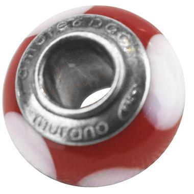 RED & WHITE BEAD MURANO BEADS