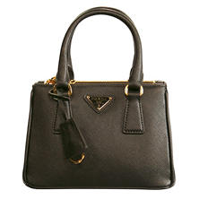 Women's Galleria Small Leather Tote Handbag by Prada
