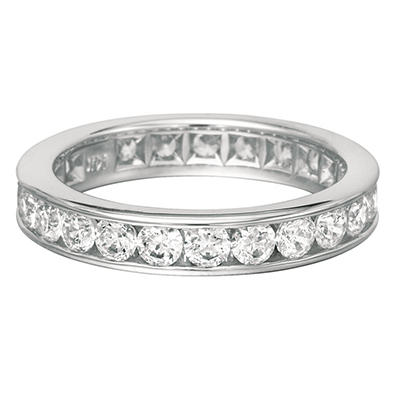 Channel-Set Diamond Eternity Band - 4mm (I, I1)